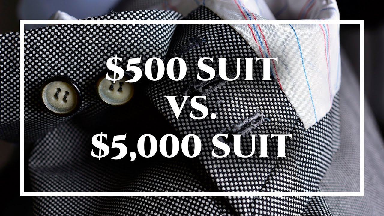 Difference Between Cheap $500 Custom Suit & $5,000 Tailor-Made ...