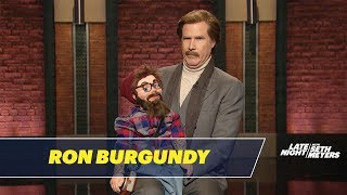 Ron Burgundy Performs Stand-Up with a Hipster Dummy