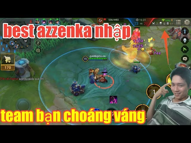 Liên Quân Mobile _ Best Azzenka Nhập Anh Hảo Đánh Như Thánh Khiến Team Bạn Hoảng Hồn | Chạy Ngay Đi