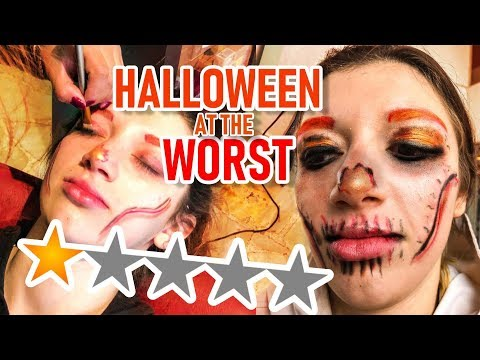 I WENT TO THE WORST REVIEWED MAKEUP ARTIST FOR MY HALLOWEEN MAKEUP thumbnail