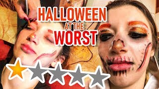 I WENT TO THE WORST REVIEWED MAKEUP ARTIST FOR MY HALLOWEEN MAKEUP