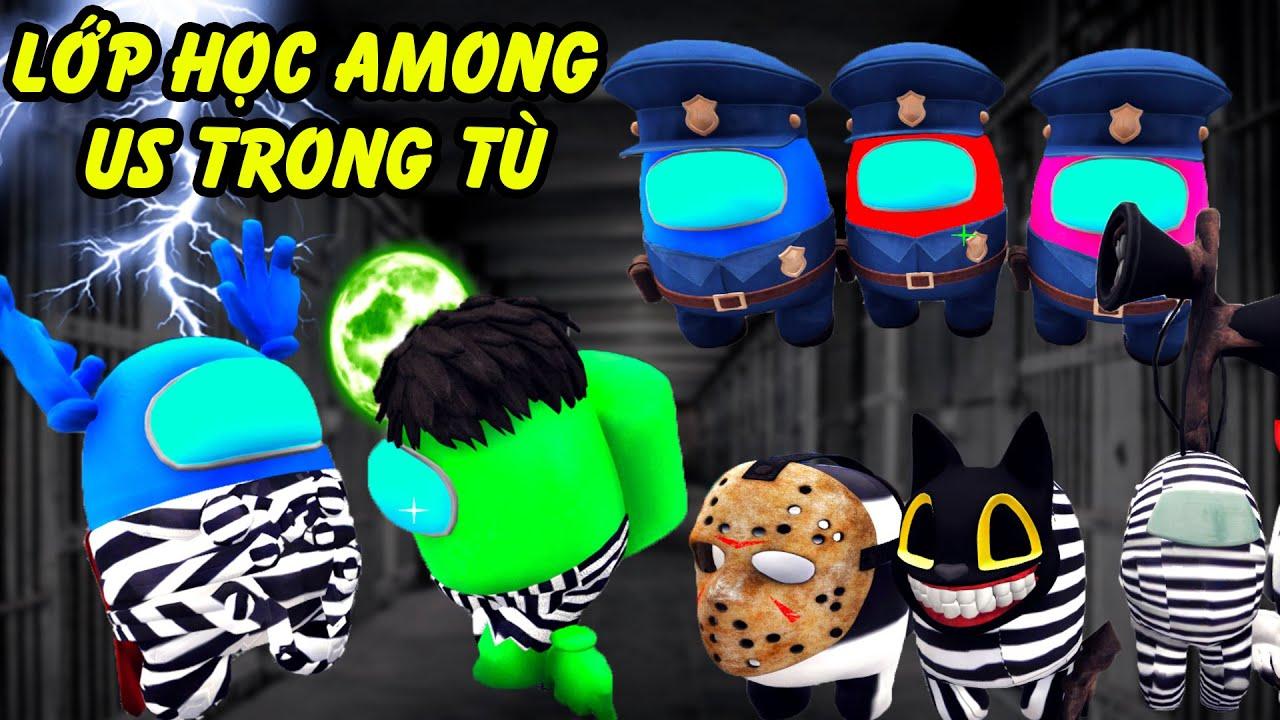 GTA 5 - Lớp học Among Us (2) trong tù - Among Us Hulk cà khịa với Thor khiến bạn học xanh mồ | GHTG