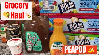 Peapod Delivery Grocery Haul / What We Eat