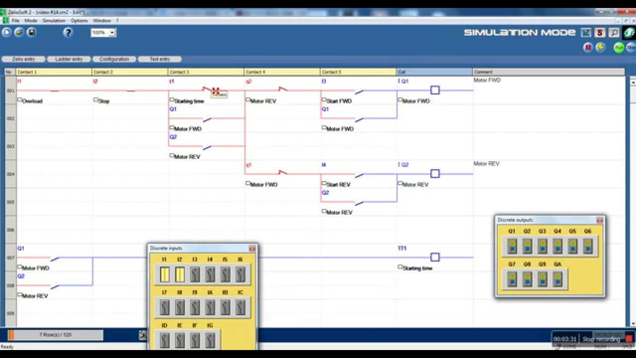 Zelio logic video turorial #14 DOL motor starter fwd and rev with delay example #2  YouTube