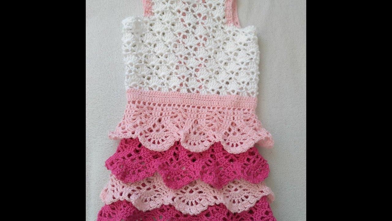 9a36f7f29c Horgolt kislany ruha - YouTube