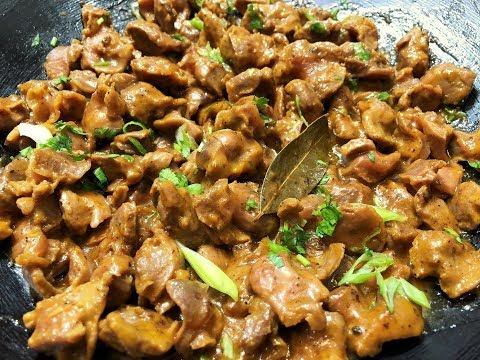 Как приготовить вкусно куриные желудки рецепт