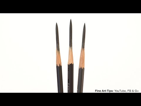 How To Sharpen A Pencil Like A Boss (for Drawing) - Narrated