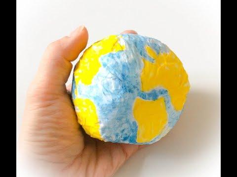 Fabriquer la Planète Terre en papier. Make paper Planet Earth.