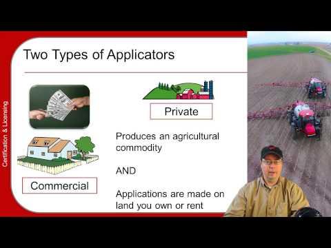 Pesticide Applicator Training Basics, part 1/5