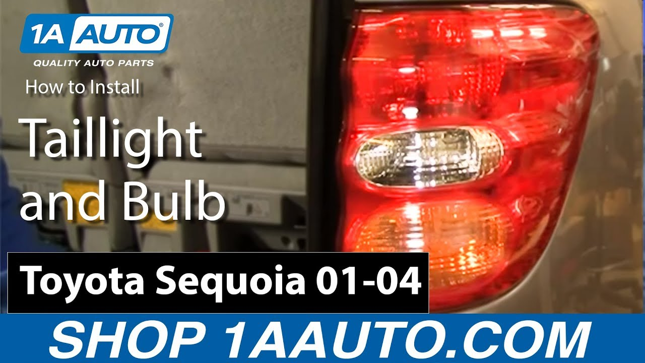 how to replace tail light 01 04 toyota sequoia [ 1280 x 720 Pixel ]