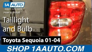 How To Install Replace Taillight and Bulb Toyota Sequoia 01-04 1AAuto.com