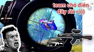 PUBG Mobile - Thử Thách AKM 6x Không Zoom Solo Squad | Khi 4 Team Liên Tục Công Vào