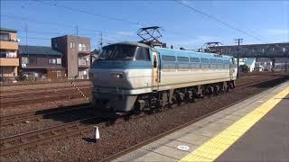 2018/3/2 午後の清洲駅を通過する貨物列車 強風による遅れ有り