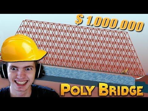 A PONTE DE 1 MILHÃO $$$ - Poly Bridge
