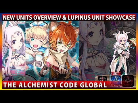 New Units Lupinus Margaret Hayate Overview & Lv85 Lupinus Unit Showcase (The Alchemist Code)