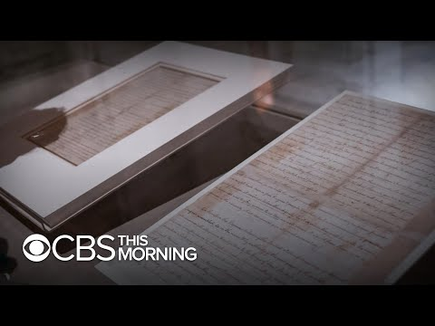 Declaration Of Independence Manuscript On Rare Display In New York City