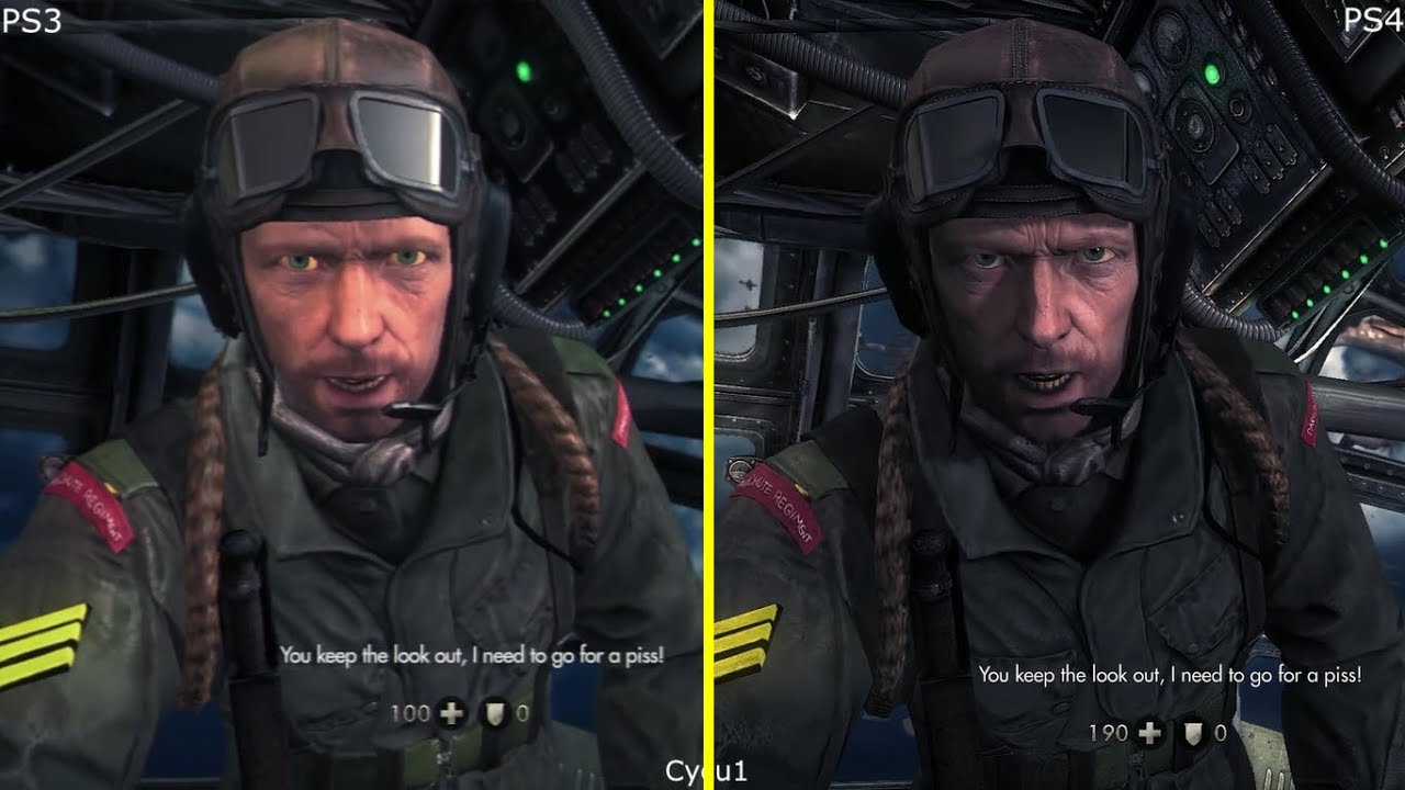 Wolfenstein The New Order PS3 Vs PS4 Pro Graphics