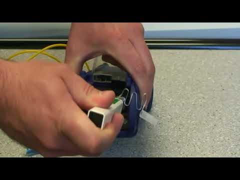 One Click Cleaner   How to clean fiber optic connectors