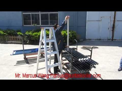 Suntask solar vacuum tube impact resistance test, Drop height 1 m