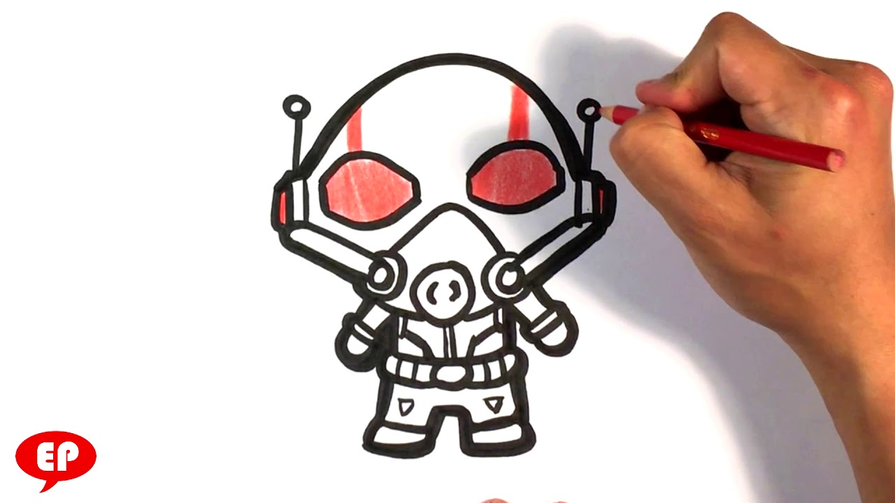 How to Draw Ant-man - Cute - Easy Pictures to Draw - YouTube