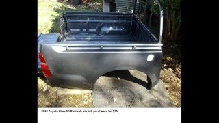 Repeat youtube video 1971 home made trailer rebuild with Toyota Hilux tub: Series preview trailer.