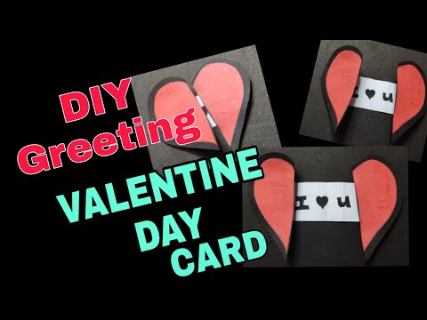 How to make easy paper heart valentine card  with message craft  | DIY | origami | 2minutecrafts