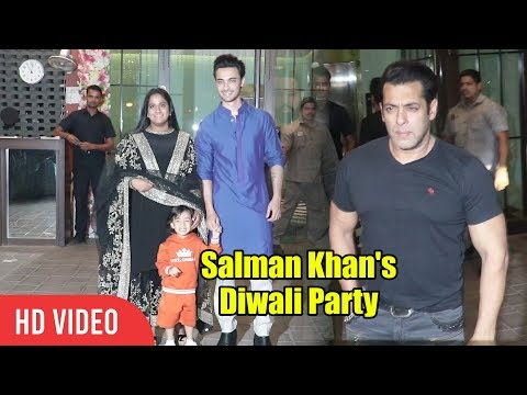 Salman Khan Ki Diwali Party | Salman Khan Makes GRAND Entry At Sister Arpita Diwali Party