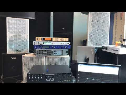 Test nhanh Cấu hình Karaoke Vang số dB LX8, mic dB D10, Main PKM 8.5, cặp loa BBE bass 25