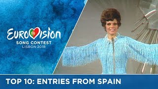 TOP 10: Entries from Spain at the Eurovision Song Contest