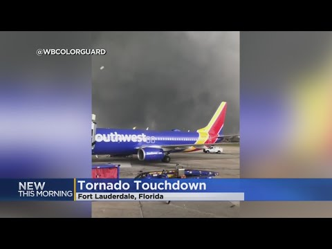Passengers On Plane Record Tornado Touchdown