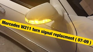 how to replace mirror turn signal in 07 09 mercedes e class w211