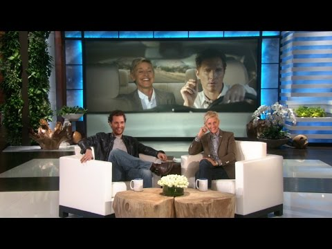 Matthew McConaughey Watches Ellen's Lincoln Commercial