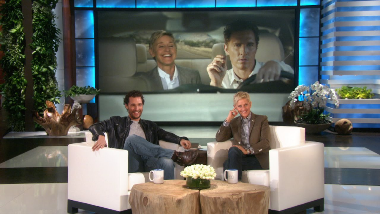 Matthew Mcconaughey Watches Ellen S Lincoln Commercial Youtube