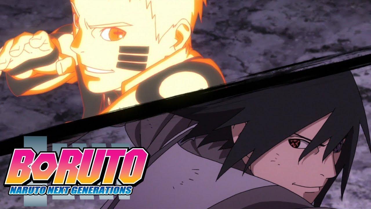 Naruto And Sasuke Vs Momoshiki Boruto Naruto Next Generations