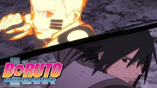 Naruto and Sasuke face off against Momoshiki to show him the greatest ninja duo in the world, pulling out all of their oldest tricks with new twists! Watch Boruto ...