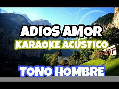 ADIOS AMOR - Christian Nodal KARAOKE ACUSTICO PIANO