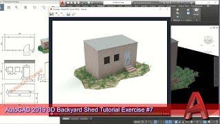 Autocad 2019 Design 3D PUBG Backyard Shed Modeling Tutorial For Beginner