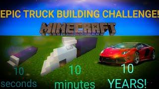 10 seconds, 1 minute, 10 minutes building challenge! {Minecraft Challenge} [Episode #1]