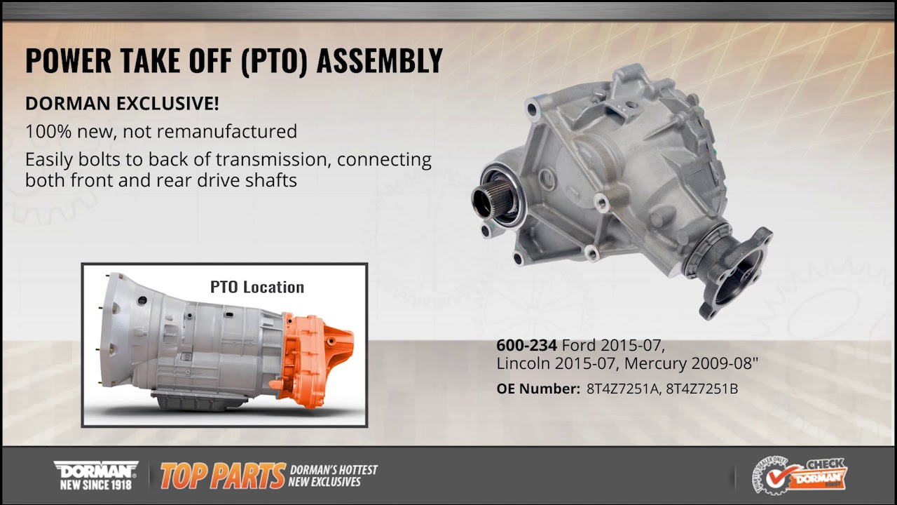 Lincoln Truck 2015 >> Highlighted Part: Power Take Off (PTO) Assembly for Select ...