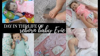 REALISTIC REBORN DAY IN THE LIFE OF BABY EVIE | saskia by bonnie brown