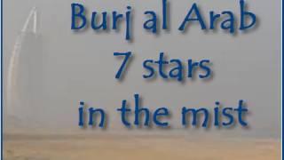 Burj al Arab 7 star hotel in the mist