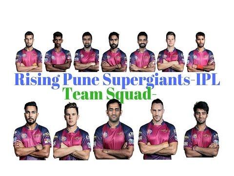 Rising Pune Supergiants  IPL 2017 Team Squad\\
