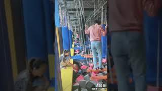 Bettaplay Interactive Trampoline Game Indoor Playgound Small Gymnastic Trampoline Park
