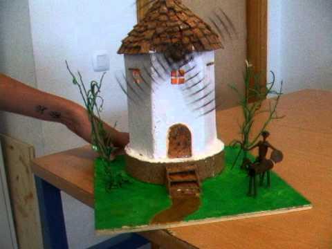 Molino accionado por motor el ctrico youtube for Como hacer molinos de viento para el jardin