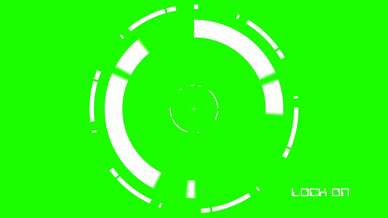 Lock On Target Green Screen Animation Youtube