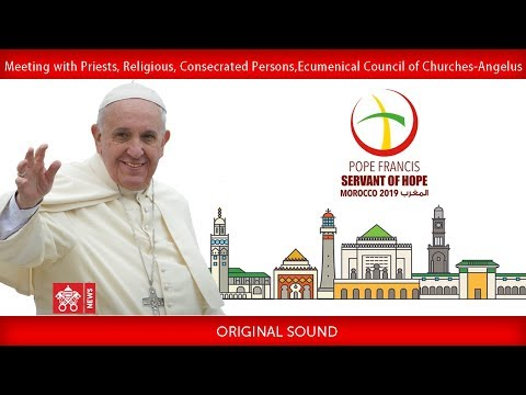 Pope Francis - Rabat - Meeting with Clergy 2019-03-31