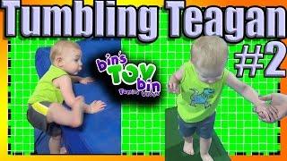 Teagan at Baby Gymnastics!! Another Week another Tuckered Teagan!   Bins Toy Bin