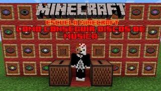 Escuela Minecraft: Como conseguir discos de música