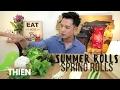 [mukbang/cookbang with THIEN]: Spring/Summer Rolls Vietnamese Recipe (Shrimp and Tofu)