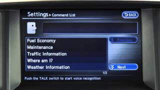 2014 Infiniti QX80 - Alternate Command Mode (One Step Calling) (if so equipped)